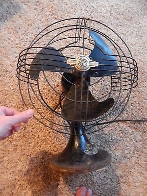 Vintage General Electric 3 Blade Metal Fan  Osculates  Tested and Working