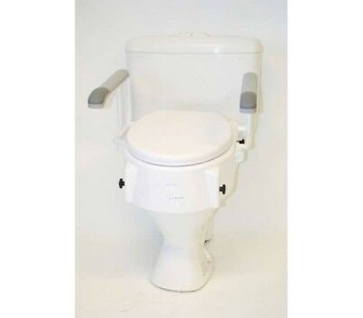NEW Raised Toilet seat with Arms Home Health Care Equipment