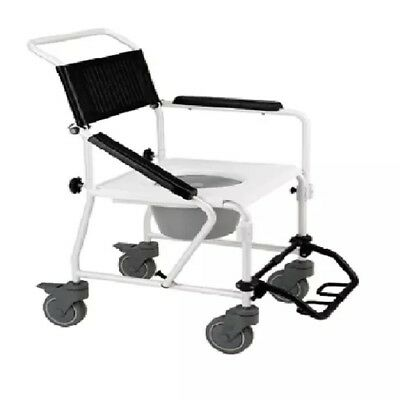 NEW Transport Commode Shower Chair Home Health Care Equipment
