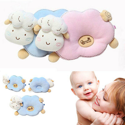 Newborn Baby Infant Prevent Flat Head Shape Pillow Sleep Positioner Anti Roll