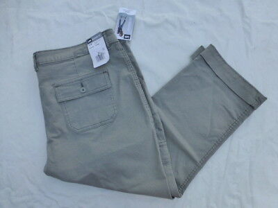 Nwt Womens Lee Midrise Fit Crop Pants 3379506 Storm Gray
