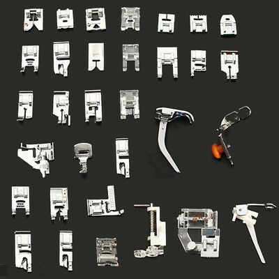 32 Pcs Domestic Sewing Machine Presser Foot Set Janome Brother Walking Feet TT