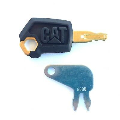 CAT - Caterpillar Equipment Key Set Ignition and Master Disconnect with OEM Logo