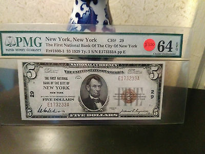 1929 5 national bank note