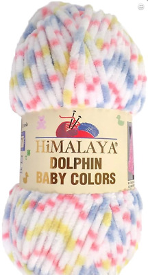 Dolphin Baby Colors Super Bulky yarn by Himalaya 3.53 oz/100g #80417