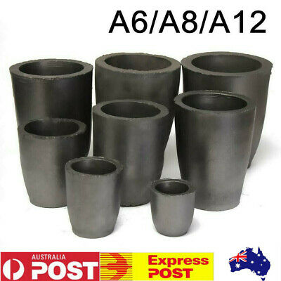 Foundry Graphite Crucibles Cup Furnace Torch Melting Casting Gold Silver Copper