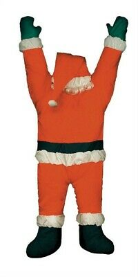 Gemmy  Santa Hanging From Gutter  Christmas Decoration  Red  Polyester  1