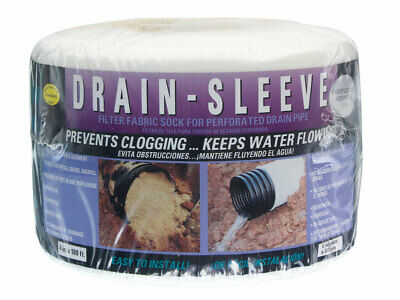 Drain Sleeve  4 in. Dia. x 100 ft. L Polyester  Filter Fabric Sock