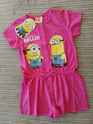 Girls Pink Playsuit ** Minions ** Age 3/4 years ** NWT