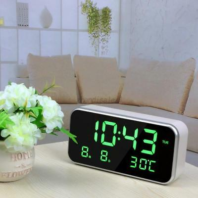 Pop Practical Table Desk Wall Digital LED Clock Alarm Watch Temperature Display