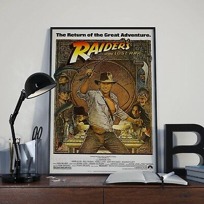 Indiana Jones Raiders Of The Lost Ark  Movie Film Poster Print Picture A3 A4