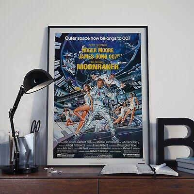 Moonraker James Bond 007 Moore Cinema Movie Film Poster Print Picture A3 A4
