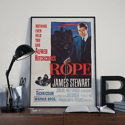 Alfred Hitchcock Rope James Stewart Movie Film Poster Print Picture A3 A4