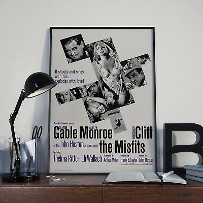 The Misfits Marilyn Monroe Movie Film Poster Print Picture A3 A4 Vintage Posters