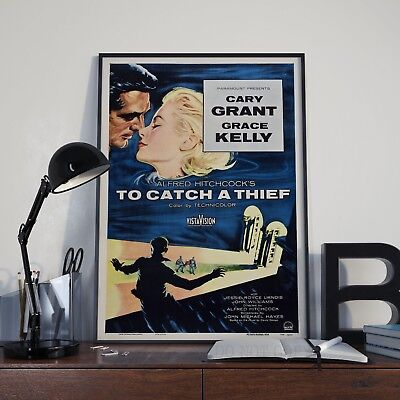 Vintage Alfred Hitchcock To Catch A Thief Movie Film Poster Print Picture A3 A4