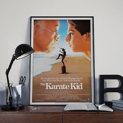 The Karate Kid Classic 80's Martial Arts Movie Film Poster Print Picture A3 A4