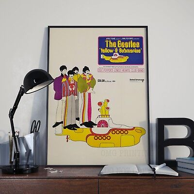 The Beatles Yellow Submarine Movie Film Poster Print Picture A3 A4 Posters