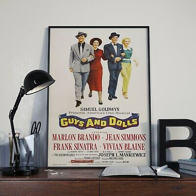 Vintage Frank Sinatra Movie Guys And Dolls Brando Poster Print Picture A3 A4