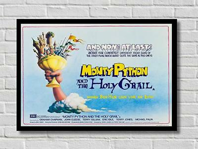 Vintage Monty Python And The Holy Grail Movie Film Poster Print Picture A3 A4