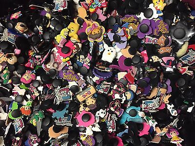 50x Mixed Girls Character Shoe Charms Wristband