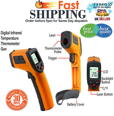 Digital Infrared Temperature Laser Thermometer Gun Handheld Non-Contact IR UK