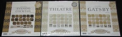 """Ultimate Crafts 'THE RITZ - 12"""" PAPER PACKS' 18 sheets (You choose design)"""