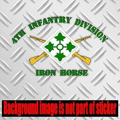 2127 US ARMY 4TH INFANTRY DIVISION Military Color Car Decal window wall sticker