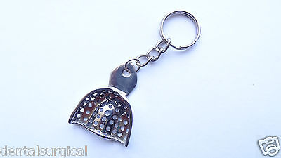 Key Ring Key Chain Dental Impression Tray Perforated Stainless Steel CE