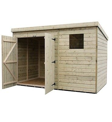 Garden Shed 9X3 9X4 9X5 9X6 9X7 9X8 Pressure Treated Tongue And Groove Pent Shed