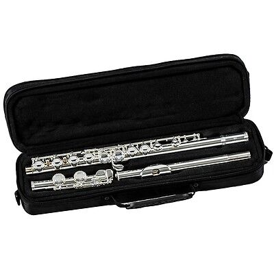 New Gemeinhardt 1SP Closed Hole Flute Outfit Silver-plated Head and Body