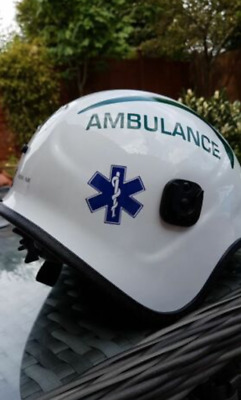Star Of Life STICKER Ambulance Sign Paramedic Helmet First responder 50mm x 2