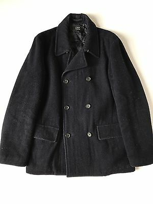 J Crew Men's Medium Peacoat Italian Wool Navy Thinsulate Holiday 2005