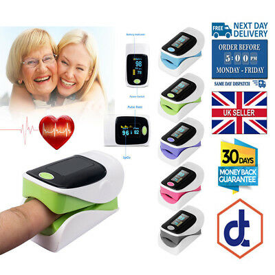 Finger Fingertip Blood Oxygen Meter SPO2 OLED Pulse Heart Rate Monitor Oximeter