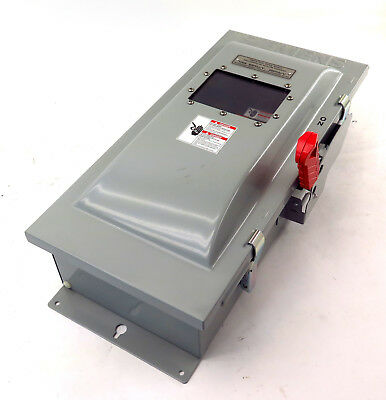 Siemens HFC363JW Fusible Heavy Duty Disconnect Switch 100A 600V Free Shipping