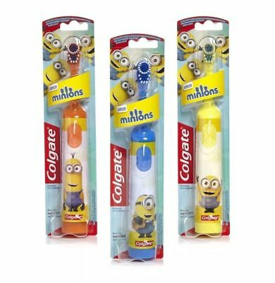 Colgate Minions Battery Powered Kids Children Toothbrush Electric Soft Fun Brush