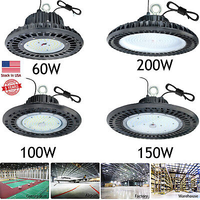 60W 100W 150W 200W 300W LED UFO High-Bay Fixture Warehouse Industrial Area Light