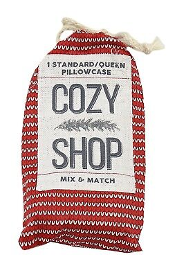 Cozy Shop Mix & Match 1-Standard Queen Pillowcase, Lot of 2 (Candy Cane Stripe)