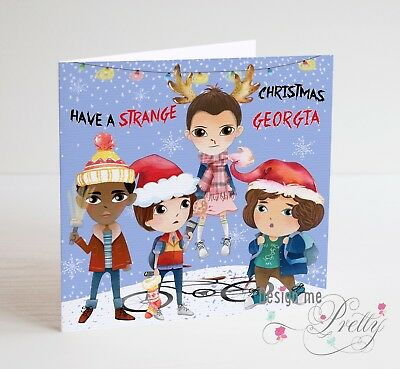 STRANGER THINGS Personalised Christmas Card - Girlfriend Son Daughter ELEVEN