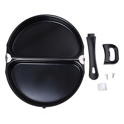 Folding Stainless Steel Pot Non-stick Omelet Pan Stovetop Cookware With Lid Q3E6