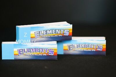 3x ELEMENTS Rolling Filter Tips  Perforated Chemical and Chlorine Free Fiber