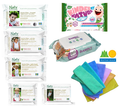 Choose from BABY WIPES Naty, Bambo Nature, Beaming Baby, Jackson Reece, Reusable