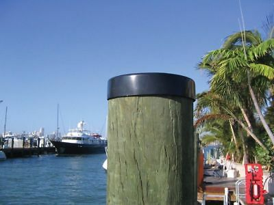 "Marine Boat Dock 9/"" Piling Cone 6 Pack White Pylon Cap Covers"