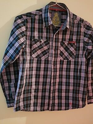 Boys striped multicolour shirt. Age 10 years. Used item in good condition.