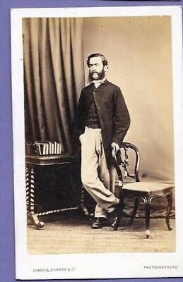 JOHN CRAWLEY BOOKS & FURNITURE ORIGINAL VINTAGE OLD CDV PHOTO London DE