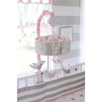 My Baby Sam Pixie Baby Mobile Pink Gray Lullaby Musical Baby Crib Mobile