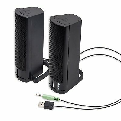 Universal USB Powered Computer Speakers PC Desktop Laptop Stereo Sound Bar Black