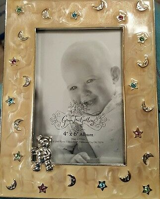 "4"" X 6"" Silver Plated Baby Photo Frame by Green Tree Gallery GTG"