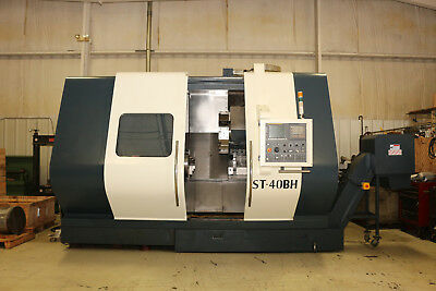 2012 Johnford 2-axis cnc lathe Model ST-40BH Fanuc 0iT control, 1897 Cutting Hrs