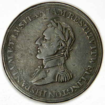 1812 Canada Copper Wellington Peninsular Token To Madrid - Priced Right!