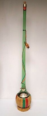 """TALL 46"""" CHIANTI Trave RED WINE BOTTLE Rare Green 1976 Vintage with Raffia"""